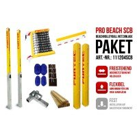 Funtec Pro Beach Beachvolleyball Netzanlage Switch+CB