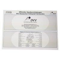 DVV Volleyball Spielberichtsbogen international