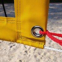 Funtec Pro Beach Plus Beachvolleyball Netz mit Antennen