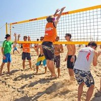 Funtec Pro Beach Beachvolleyball Netz - mobil