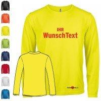 Funktions T-Shirt Langarm - Bedruckt