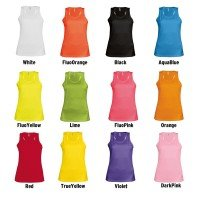 Funktions T-Shirt Tank Top Damen - Bedruckt